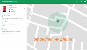 gmail find my phone